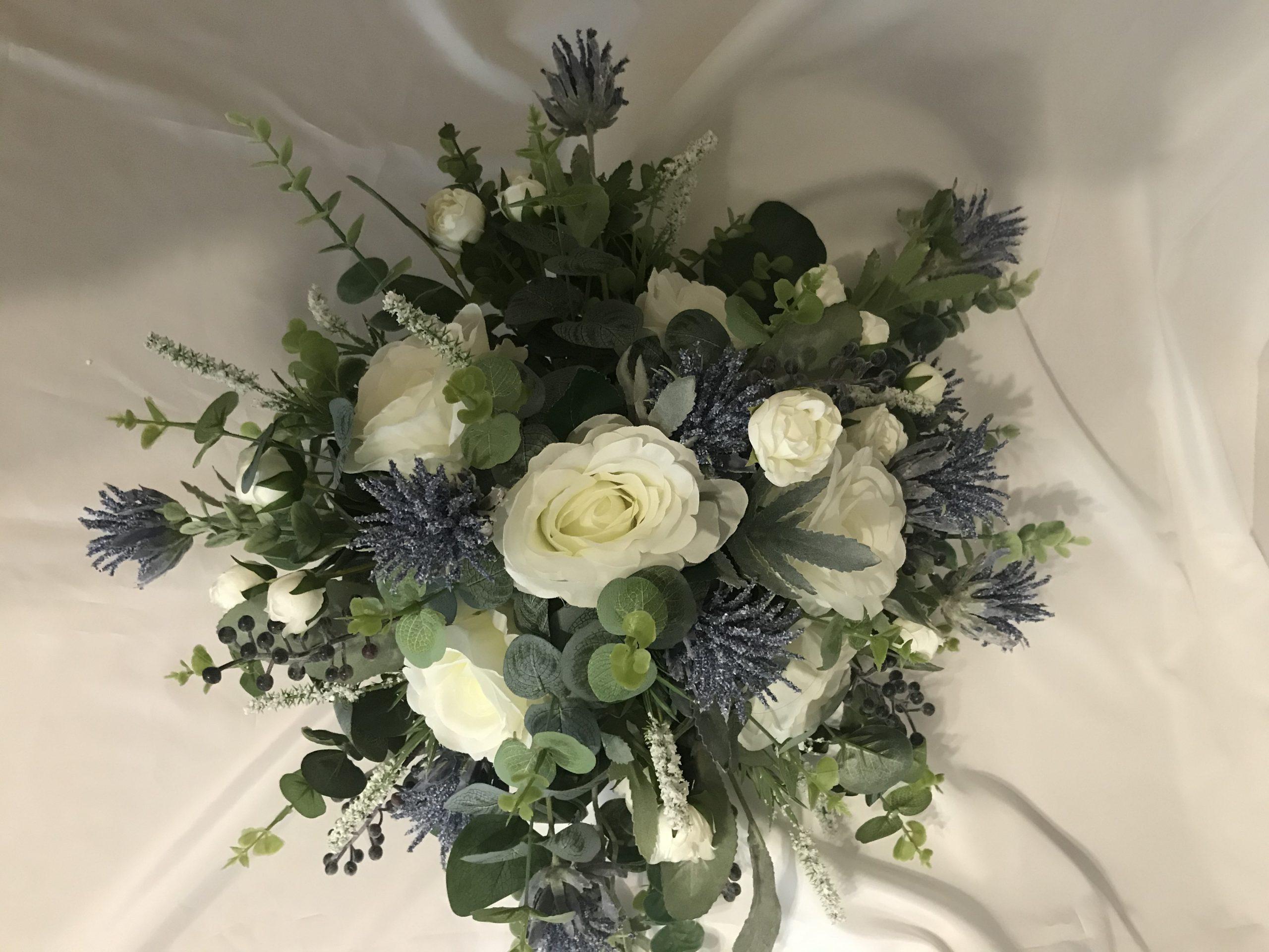 artificial brides bouquet