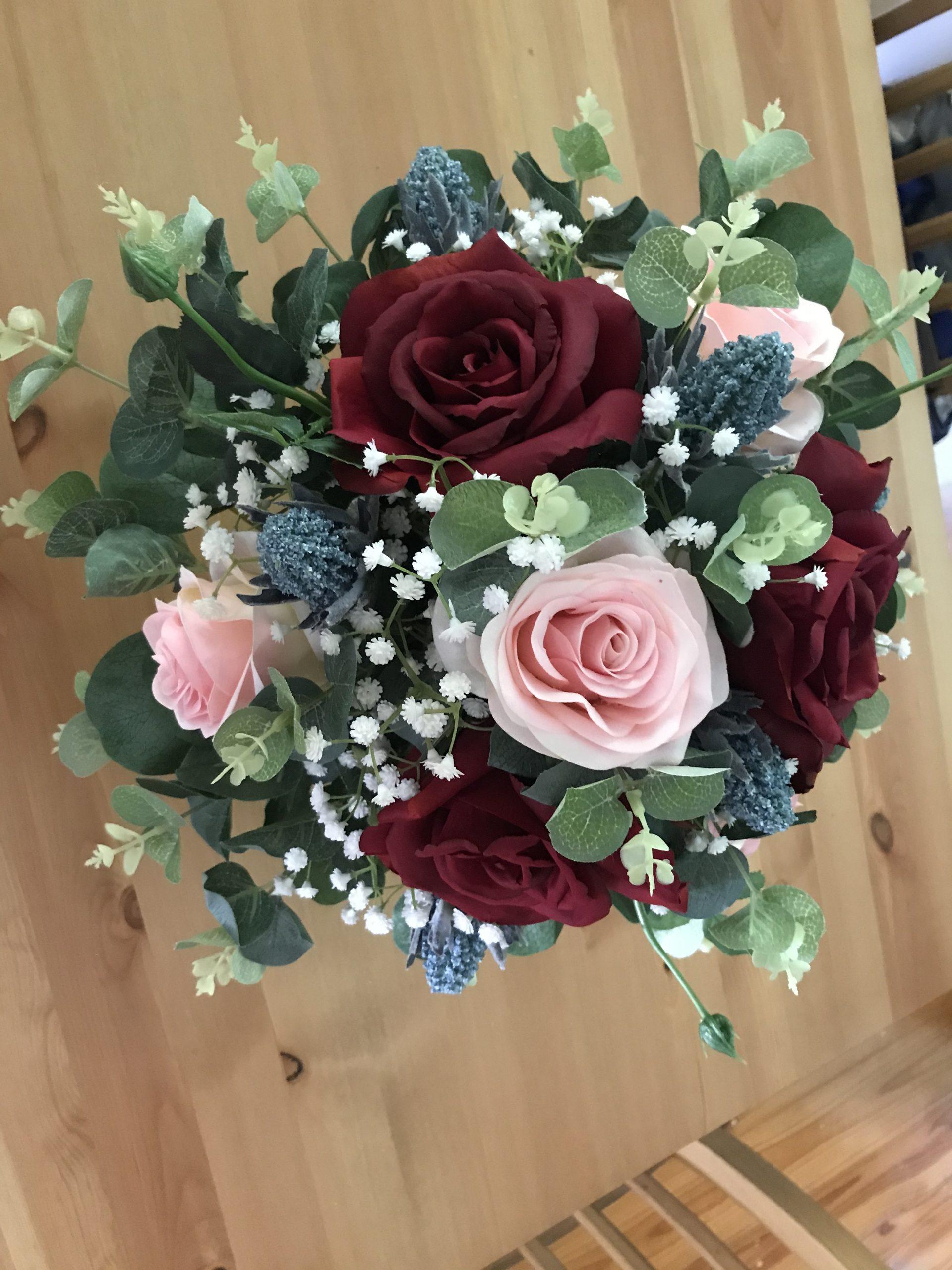 designer silk bridesmaid bouquet