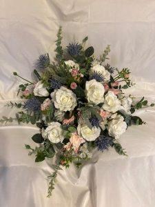faux flower bouquet wedding