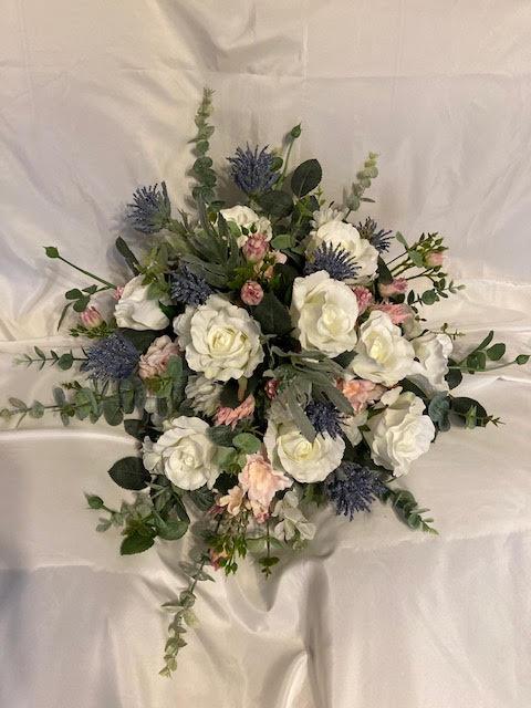 faux flower bouquet