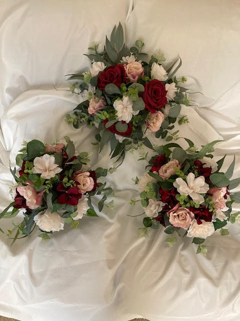 bridesmaid bouquets fake flowers