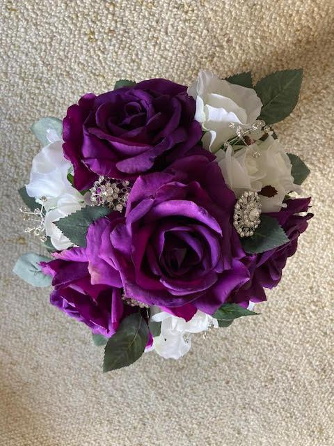 fake bridesmaid bouquets